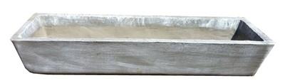 Rectangular Herb Bowl Large Whitewash Finish - L1200mm x W380mm - 45kg