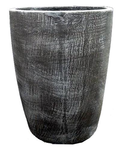Maggie Round Pot Large Whitewash Finish - H600mm x W490mm - 30kg