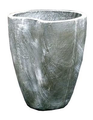 Moon Pot Medium Whitewash Finish - H500mm - 19kg