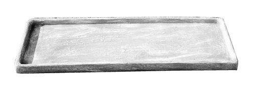 Flower Box Tray Medium Whitewash Finish - L750mm x W200mm - 10.4kg