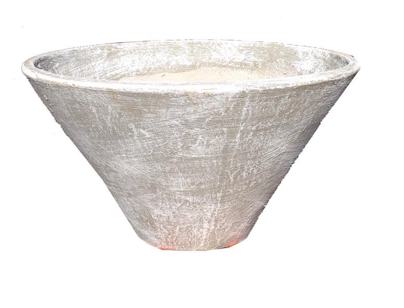 Tshepo Pot Whitewash Finish - H300mm - 12kg