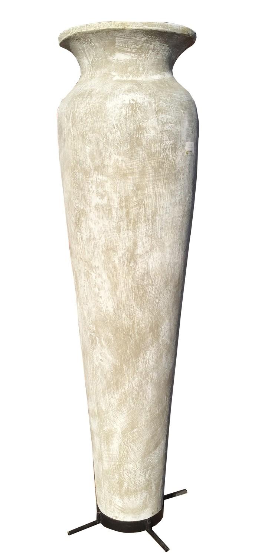 Nadia Vase Extra Large Whitewash Finish - H1900mm x W400mm - 70kg