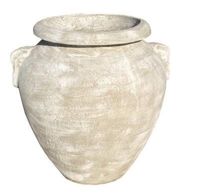 Amphora Urn Whitewash Finish - H870mm x W700mm - 57kg