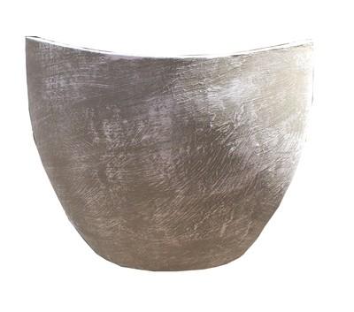 Zip Vase Short Whitewash Finish - H440mm x W370mm - 17kg