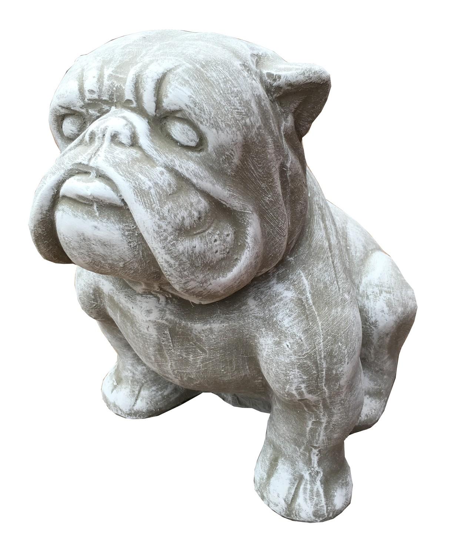 Bulldog Small Whitewash Finish - H300mm - 7kg