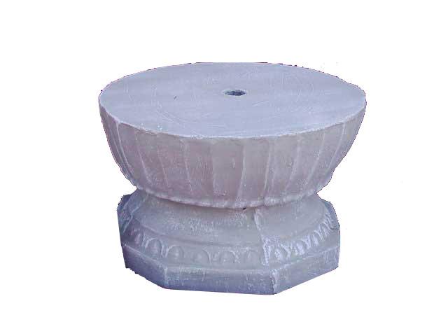 Original Fountain Base Whitewash Finish - H330mm - 65kg