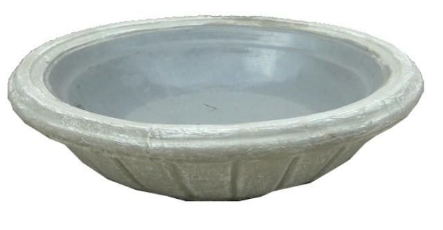 Tuscan Water Bowl Whitewash Finish - W800mm - 90kg
