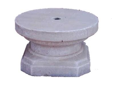 Base Plain Whitewash Finish - H250mm - 50kg