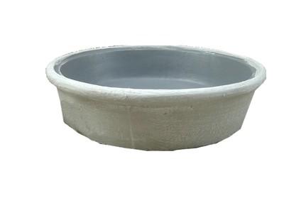 Round Plain Fountain Bowl Whitewash Finish - H202mm x W800mm - 68kg