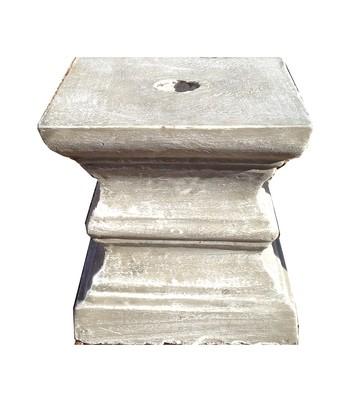 Square Pedestal Mini Whitewash Finish - H270mm - 30kg