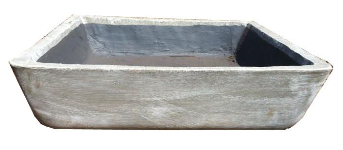 Square Fish Pond Whitewash Finish - W800mm x L800mm - 60kg