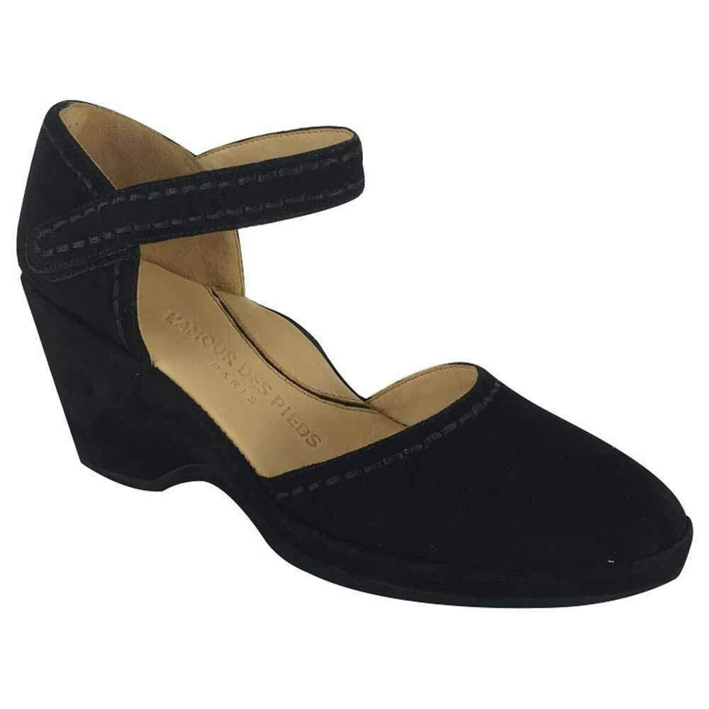 Orva Wedge Heel in Black Suede