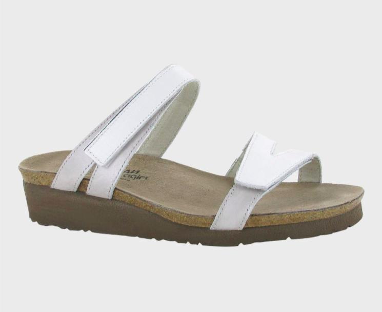 Presley White Pearl Leather Sandal