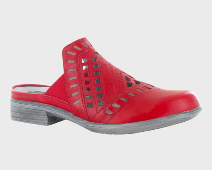 Sharkia Red Leather Slip-on