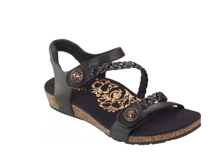 Jillian Black Adjustable Sandal FINAL