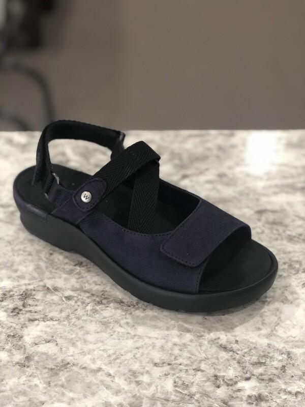 Lisse Purple Leather Sandal