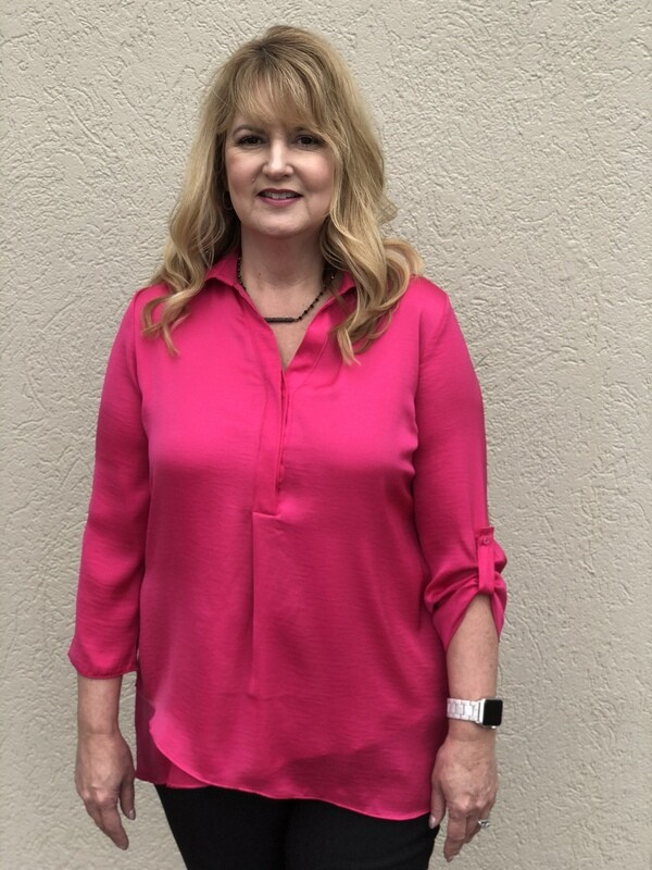LAST ONE SIZE SMALL R5517 Airflow Blouse in Blossom