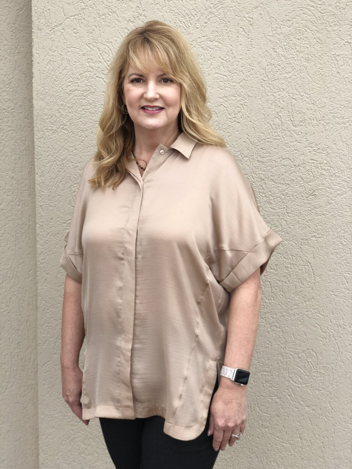 LAST ONE SIZE LARGE R5827 Short Sleeve in Sand