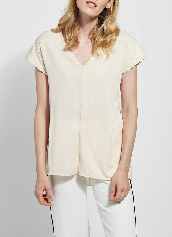 LAST ONE SIZE SMALL FINAL SALE 2428 Martha Sleeveless Top in Alabaster
