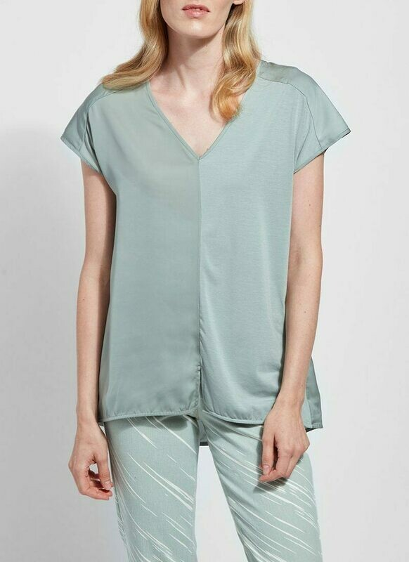 LAST ONE SIZE SMALL FINAL SALE 2428 Martha Sleeveless Top in Sage