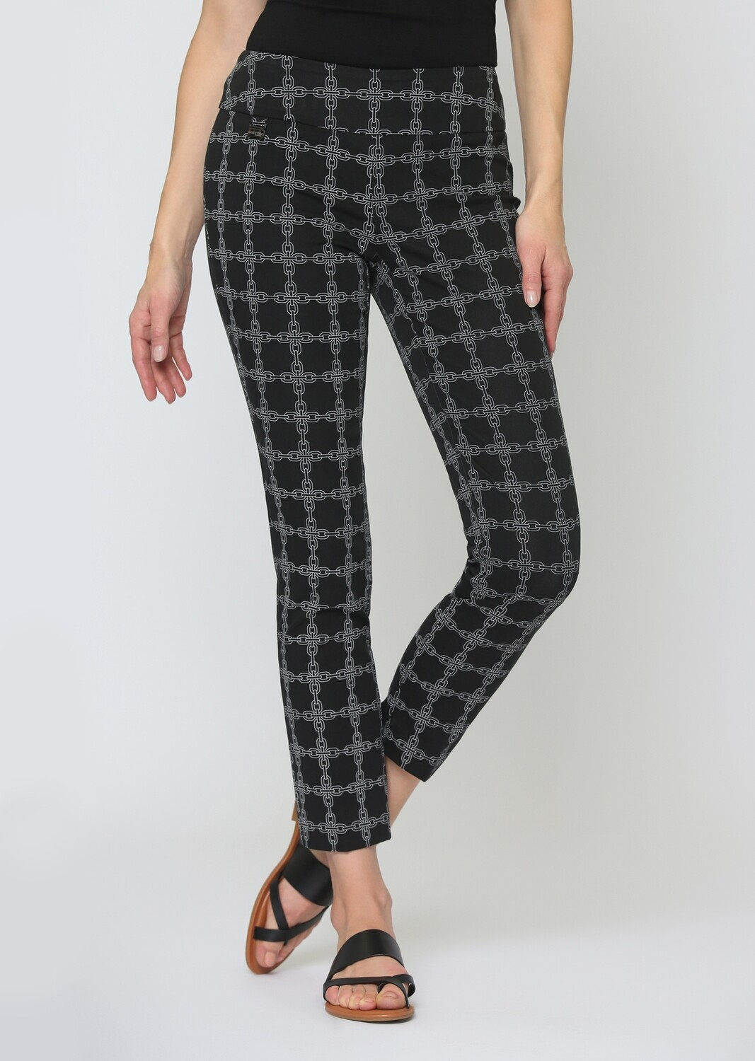 """FINAL SALE 65501 Chain Link Print 28"""" Ankle Pant"""