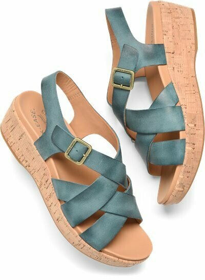 Caroleigh Turqoise Wedge Sandal