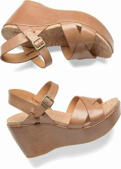 Ava Golden Sand Wedge Sandal