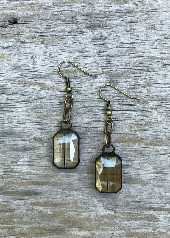 Crystal Iron Works Dangle Earrings