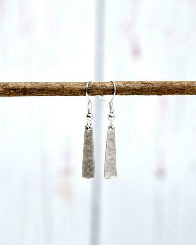 WE221 Silver Paddle Earrings