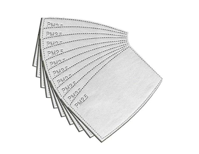 Pack of 10 Replacement Filters for Linen Mask