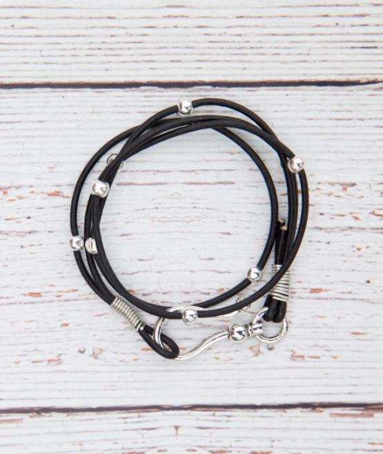 WB360 Black Wrap Bracelet/Choker