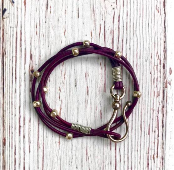 WB360 Purple Wrap Bracelet/Choker