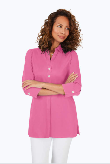 190131 Pamela Stretch Non-Iron in Think Pink