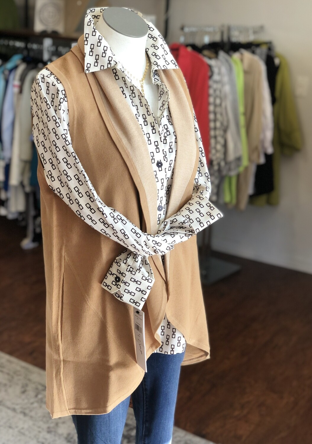 187099 Plus Size Ryland Sol Vest in Toasted Wheat