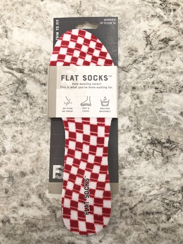 Flat Socks Red/White