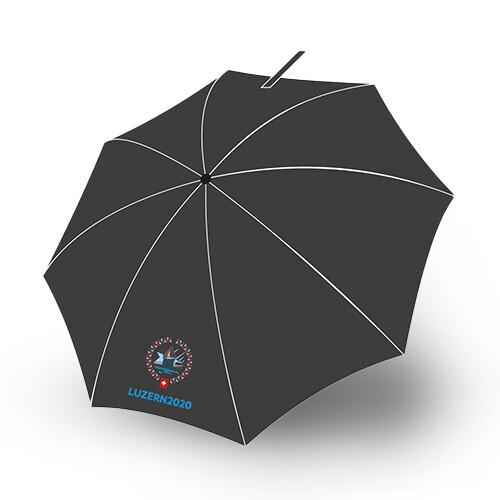 Taschenschirm Stormfighter mit Logo, schwarz