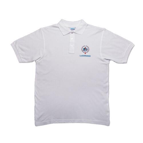Polo-Shirt ESF 2020 mit Stickerei, weiss