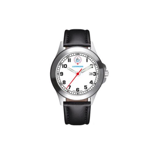 Armbanduhr ESF 2020 mit Lederband schwarz
