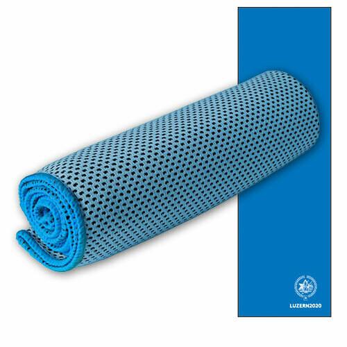 Sporttuch Cooling Towel bedruckt, 30cmx100cm, blau
