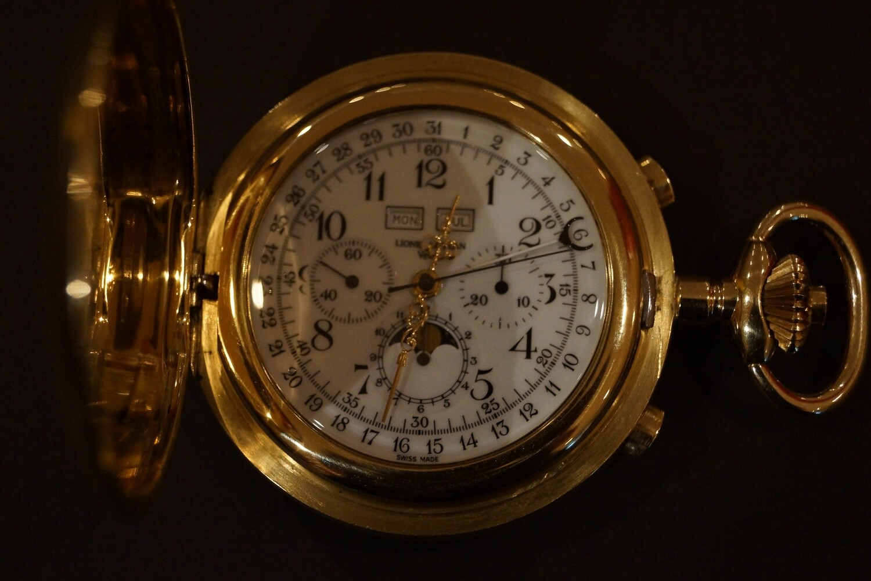 Taschenchronometer ESF 2020 Handmanufaktur, 18K Gold