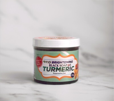 Fig Brightening Black Soap with Turmeric [No eggs/coconut oil] (700g)