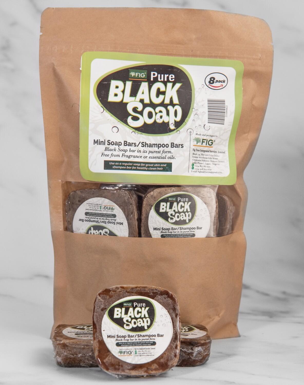 Fig Pure Black Soap Mini Bars (8 pack)450g