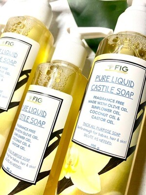FIG PURE LIQUID CASTILE SOAP (195ML)