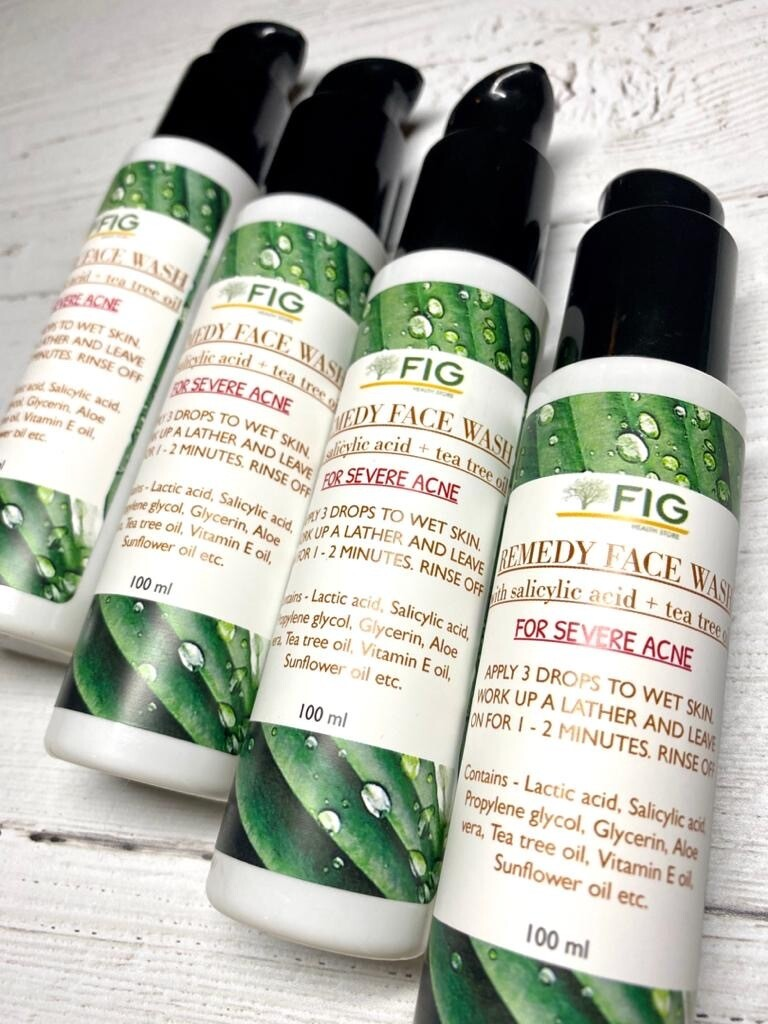 FIGTREE REMEDY FACE WASH WITH SALICYLIC ACID +TEA TREE OIL (FOR SEVERE ACNE) 100ml