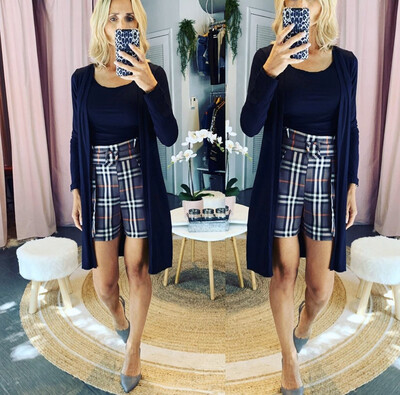 Tartan Patterned Shorts