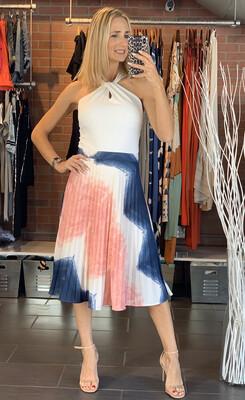 Pleated Tie Dye Skirt