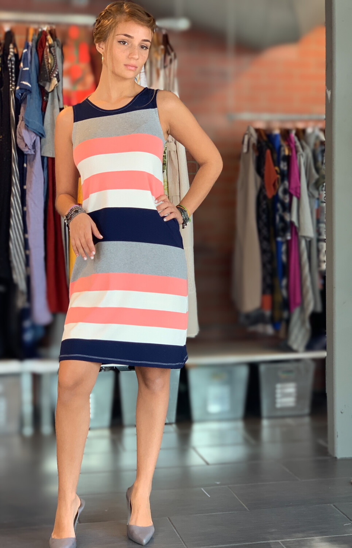 Multicolor Striped Summer Dress
