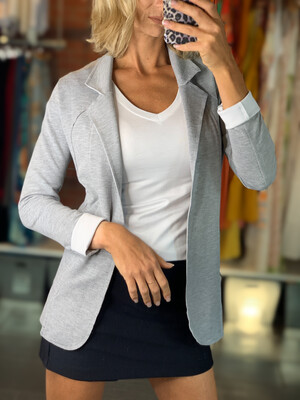 Lightweight Sweatshirt Blazer (3 Colors)