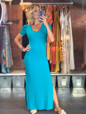 Ribbed Bodycon Silhouette Long Dress