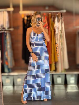 Fluity Adjustable Shoulder Strapped Long Dress